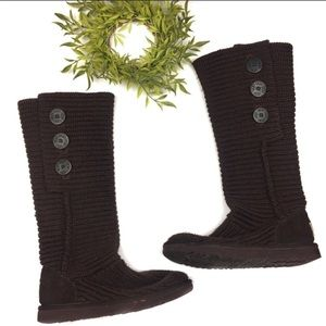 UGG Australia Classic Cardy Knit Brown Boot 7